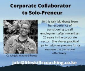 Corporate Collaborator to Solo-Preneur Talk