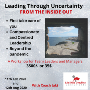 Leading Through Uncertainty workshop
